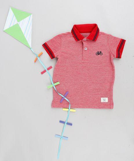 Polo-Infantil-em-Piquet-Manga-Curta-Vermelha-9236749-Vermelho_1