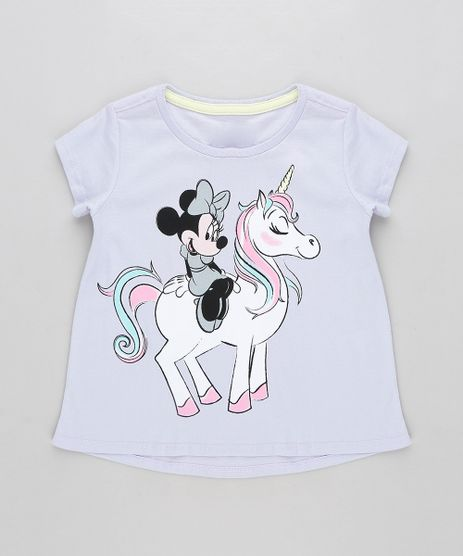 Blusa-Infantil-Minnie-com-Unicornio-Manga-Curta-Decote-Redondo-Lilas-9313327-Lilas_1