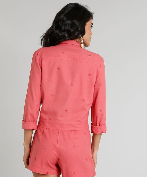 e5e392a6a Camisa-Feminina-Agua-de-Coco-Cropped-em-Linho-