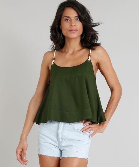 Regata-Feminina-Ampla-Agua-de-Coco-com-Alca-de-Corda-Verde-Escuro-9331761-Verde_Escuro_1