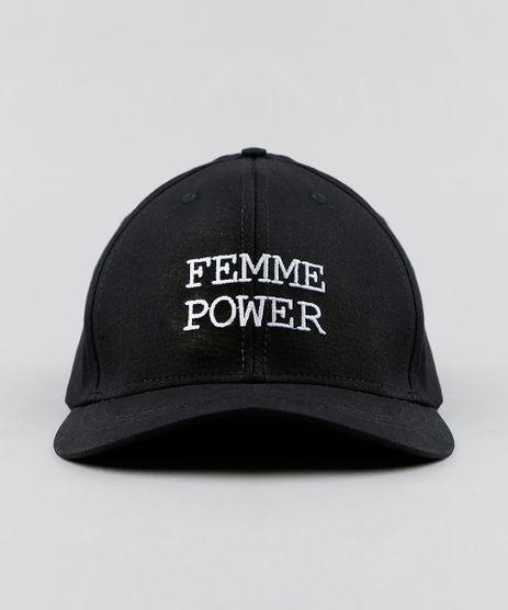 Bone-Feminino-Triya-com-Bordado--Femme-Power--Aba-Curva-Preto-9322121-Preto_1