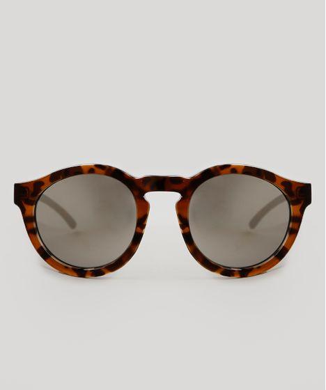 89c086ff87018 Óculos de Sol Cia. Marítima Redondo Feminino Oneself Tartaruga - cea