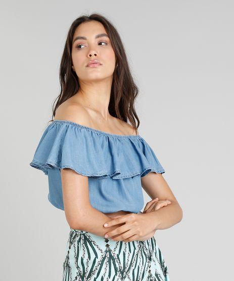 Blusa-Jeans-Feminina-Cia--Maritima-Cropped-Ciganinha-Azul-Medio-9331775-Azul_Medio_1