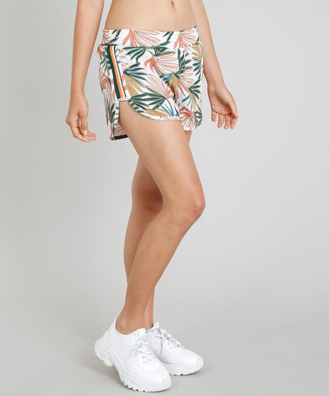 Short-Feminino-Running-Cia--Maritima-Esportivo-Estampado-Folhagem-Off-White-9264403-Off_White_1