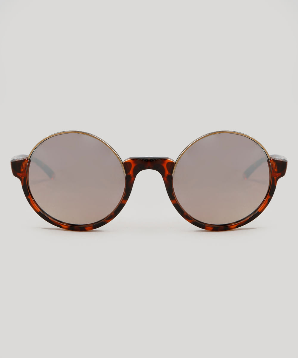 60a3da8211dec Óculos de Sol Cia. Marítima Redondo Feminino Oneself Tartaruga - Único