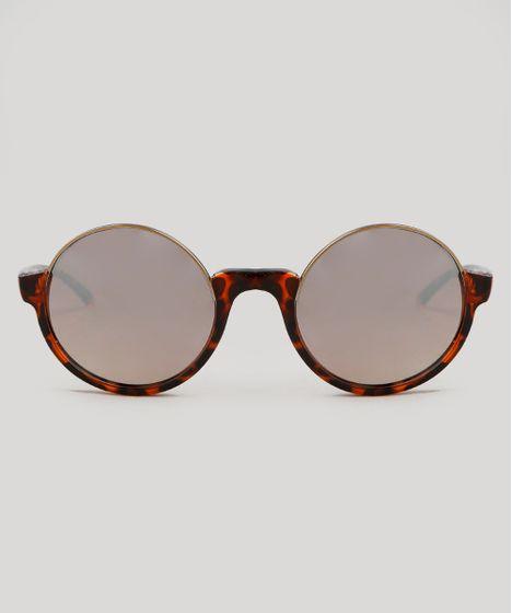8bc95c0b2 Óculos de Sol Cia. Marítima Redondo Feminino Oneself Tartaruga - cea