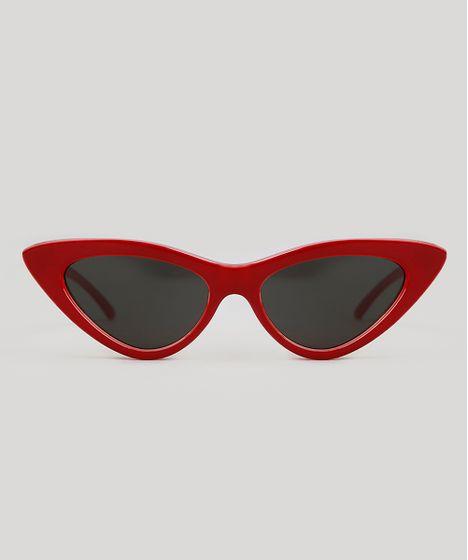 1b876162f Oculos-de-Sol-Gatinho-Triya-Feminino-Vermelho-9343653- ...