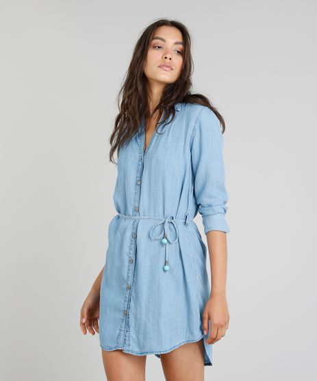 Chemise-Jeans-Feminina-Cia--Maritima-Manga-Longa-Azul-Medio-9331781-Azul_Medio_1