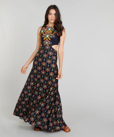 Vestido-Longo-Feminino-Cia--Maritima-Estampado-Boho-Chic-com-Recortes-Laterais-com-Protecao-UV50--Azul-Marinho-9276012-Azul_Marinho_1