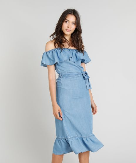 Vestido-Jeans-Midi-Feminino-Cia--Maritima-Ciganinha-com-Faixa-de-Amarrar-Azul-Medio-9331779-Azul_Medio_1