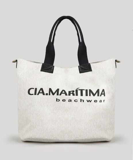 b80ae1fa3483 Bolsa-de-Praia-Cia--Maritima-Shopper-Bege-Claro