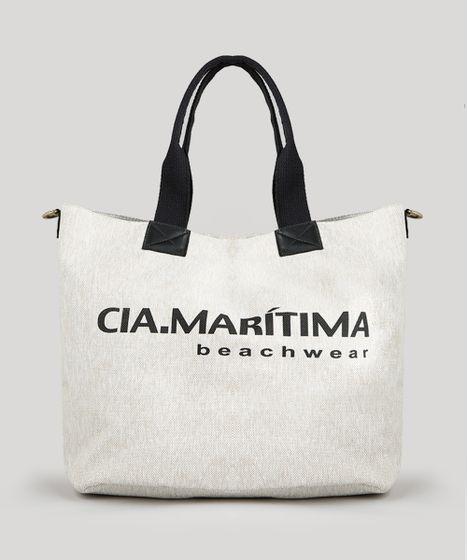 da17a5468 Bolsa de Praia Cia. Marítima Shopper Bege Claro - cea