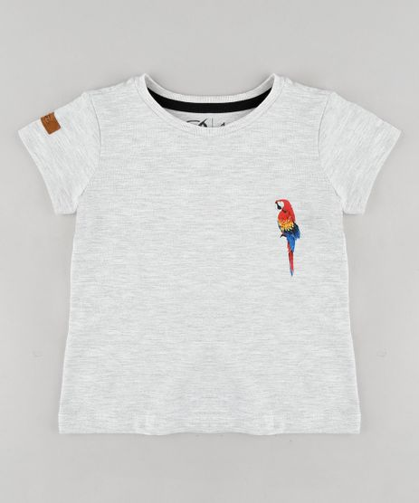 Camiseta-Infantil-Blueman-Tal-Pai-Tal-Filho-Arara-Manga-Curta-Gola-Careca-Cinza-Mescla-Claro-9343834-Cinza_Mescla_Claro_1