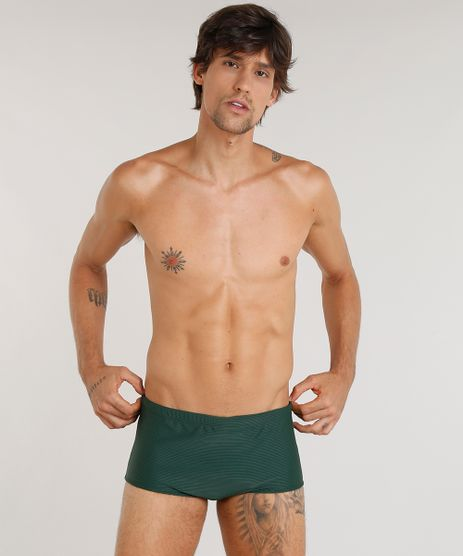Sunga-Masculina-Agua-de-Coco-Texturizada-com-Protecao-UV50--Verde-Escuro-9323760-Verde_Escuro_1
