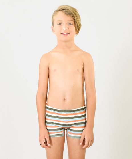 Sunga-Infantil-Boxer-Agua-de-Coco-Listrada-com-Protecao-UV50--Verde-Escuro-9284792-Verde_Escuro_1