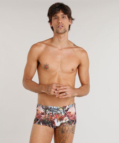 Sunga-Masculina-Agua-de-Coco-Estampada-Corais-com-Protecao-UV50--Coral-9323759-Coral_1