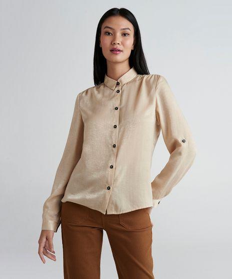 Camisa-Feminina-Mindset-Acetinada-Manga-Longa-Bege-Claro-9389674-Bege_Claro_1