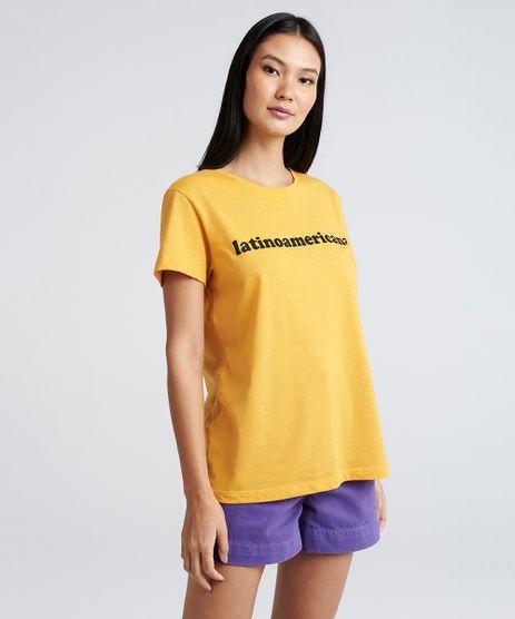 T-Shirt-Feminina-Mindset-Manga-Curta-Oversized--Latinoamericana--Mostarda-9394898-Mostarda_1