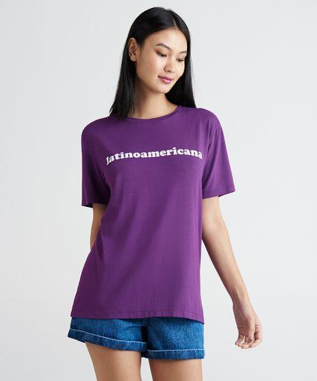 T-Shirt-Feminina-Mindset-Manga-Curta-Oversized--Latinoamericana--Roxa-9394899-Roxo_1