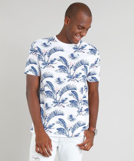 Camiseta-Masculina-Estampada-Floral-Manga-Curta-Gola-Careca-Branca-9347527-Branco_1