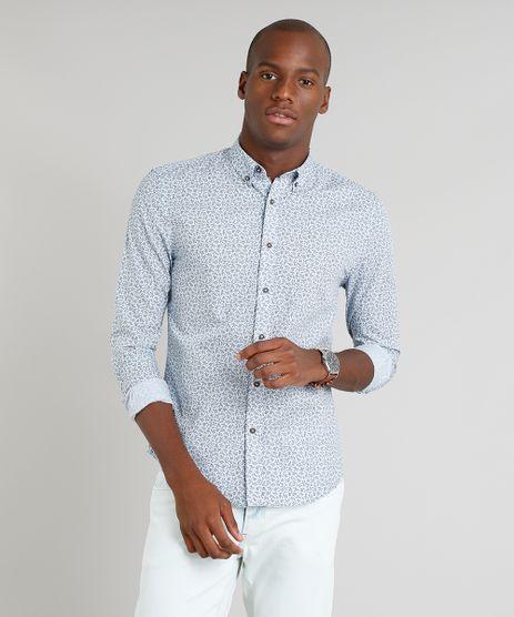 Camisa-Masculina-Slim-Estampada-Mini-Print-de-Folhagem-Manga-Longa-Azul-Claro-9253847-Azul_Claro_1