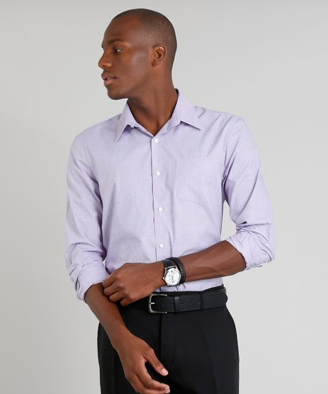 Camisa-Masculina-Comfort-Maquinetada-com-Bolso-Manga-Longa-Lilas-9249077-Lilas_1