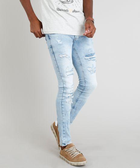 Calca-Jeans-Masculina-Skinny-Destroyed-Azul-Claro-9328246-Azul_Claro_1