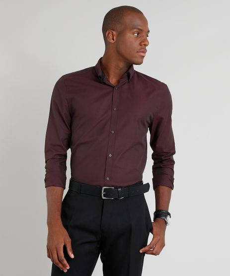 Camisa-Masculina-Slim-Manga-Longa-Vinho-9249821-Vinho_1