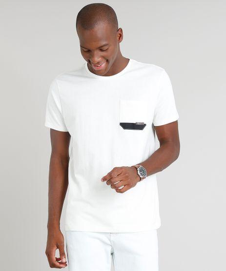 Camiseta-Masculina-com-Bolso-Manga-Curta-Gola-Careca-Bege-Claro-9206066-Bege_Claro_1