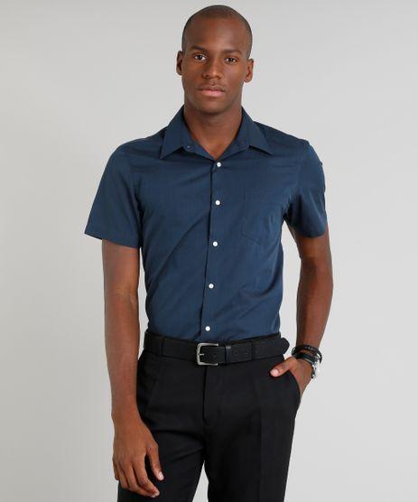Camisa-Masculina-Comfort-com-Bolso-Manga-Curta-Azul-Marinho-9246940-Azul_Marinho_1
