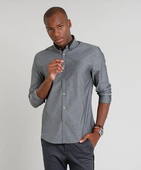 Camisa-Masculina-Slim-Manga-Longa-Chumbo-9050308-Chumbo_1