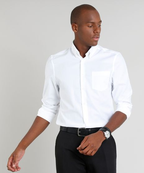 Camisa-Masculina-Comfort-Maquinetada-com-Bolso-Manga-Longa-Off-White-9093248-Off_White_1