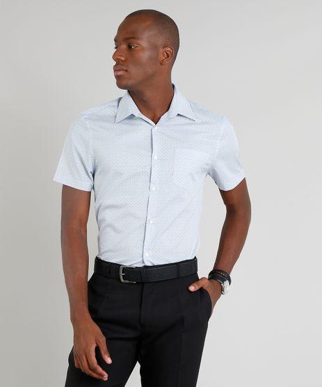 Camisa-Masculina-Comfort-Estampada-Mini-Print-com-Bolso-Manga-Curta-Azul-Claro-9093242-Azul_Claro_1