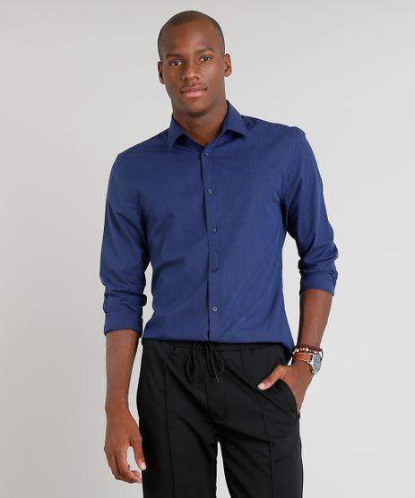 Camisa-Masculina-Slim-Listrada-Manga-Longa-Azul-Marinho-9089561-Azul_Marinho_1