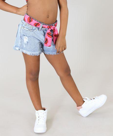 Short-Jeans-Infantil-Triya-Tal-Mae-Tal-Filha-com-Lenco-Estampado-Bocas-Azul-Claro-9364994-Azul_Claro_1