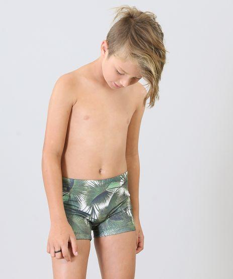 Sunga-Boxer-Infantil-Agua-de-Coco-Estampada-Palmeira-com-Protecao-UV50--Verde-Escuro-9284793-Verde_Escuro_1