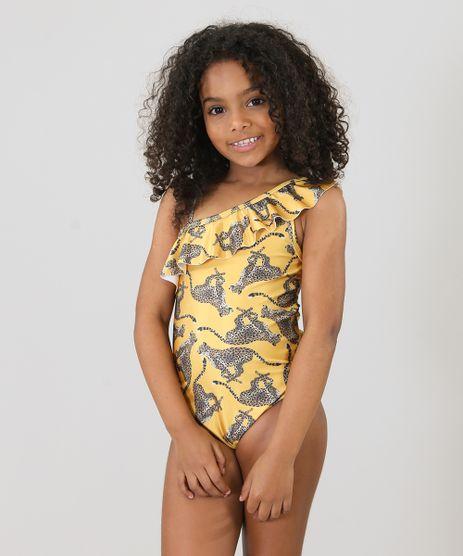 Maio-Infantil-Triya-Estampado-Leopardo-Um-Ombro-So-com-Protecao-UV50--Mostarda-9285609-Mostarda_1