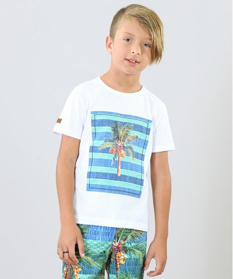 7d93a4db6bf634 Camiseta Infantil Blueman Tal Pai Tal Filho Coqueiros Manga Curta ...