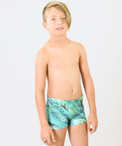 Sunga-Infantil-Boxer-Blueman-Estampada-Florestal-com-Protecao-UV50--Verde-9285570-Verde_1