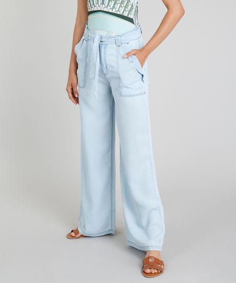 Calca-Pantalona-Jeans-Cia--Maritima-Com-Faixa-de-Amarrar-Azul-Claro-9331780-Azul_Claro_1