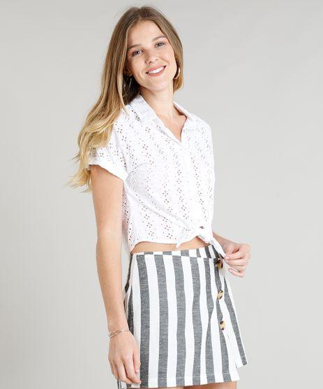 Camisa-Cropped-Feminina-em-Laise-Manga-Curta-Branca-9260358-Branco_1