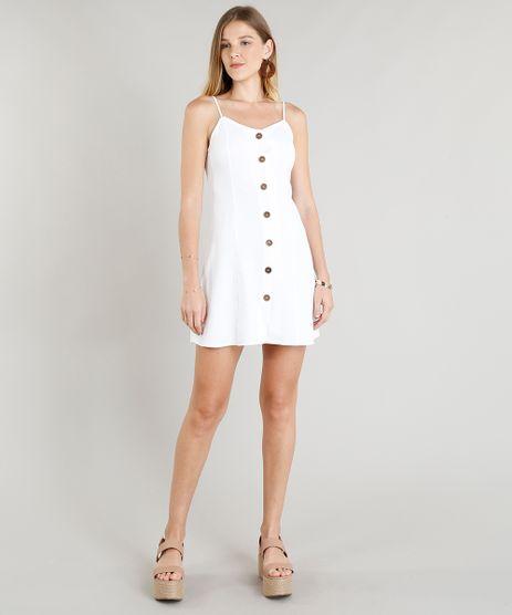 Vestido-Feminino-Curto-em-Linho-com-Botoes-Branco-9260046-Branco_1