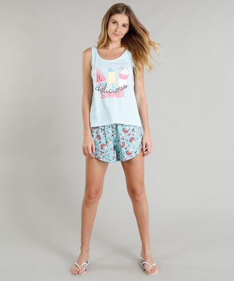 Pijama-Feminino-Estampado--Delicious-Summer--Regata-Azul-Claro-9296025-Azul_Claro_1
