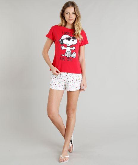 Pijama-Feminino-Snoopy-Manga-Curta-Vermelho-9296699-Vermelho_1