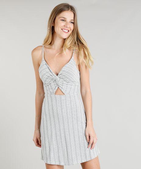 Vestido-Feminino-Evase-Curto-Listrado-com-Vazado-Alcas-Finas-Decote-V-Off-White-9336438-Off_White_1