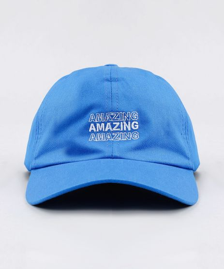 Bone-Masculino-Aba-Curva-com-Bordado--Amazing--Azul-Royal-9394211-Azul_Royal_1