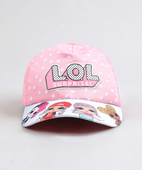 Bone-Infantil-Aba-Curva-LOL-Surprise-Estampado-Rosa-9284956-Rosa_1