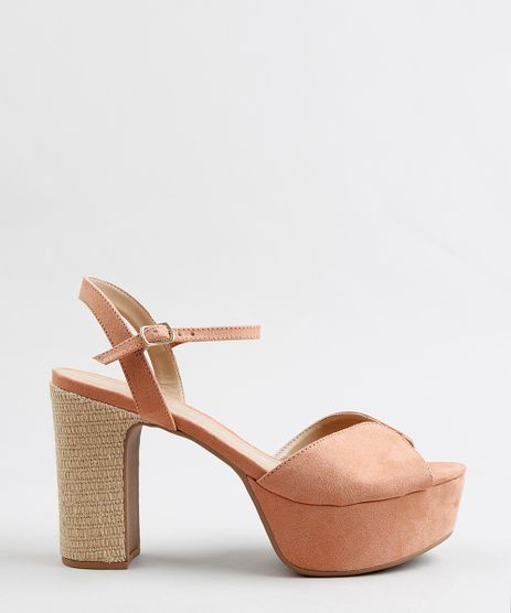 Sandalia-Meia-Pata-Feminina-em-Suede-Rose-9325185-Rose_1