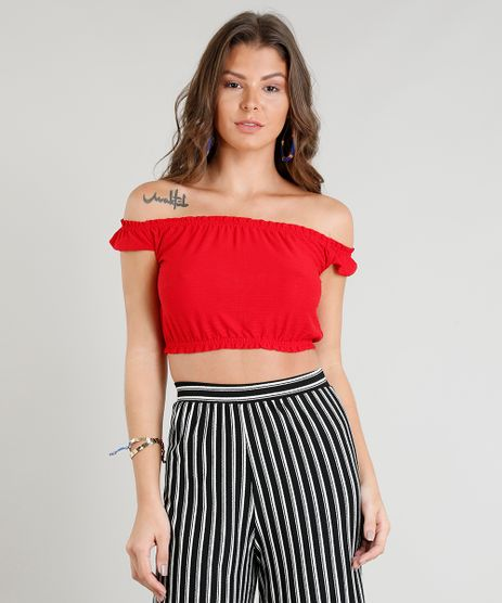 Blusa-Cropped-Ombro-a-Ombro-Feminina--Vermelha-9336440-Vermelho_1