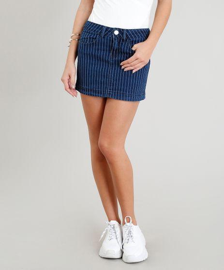 Saia-Jeans-Feminina-Listrada-Curta-Azul-Escuro-9365641-Azul_Escuro_1